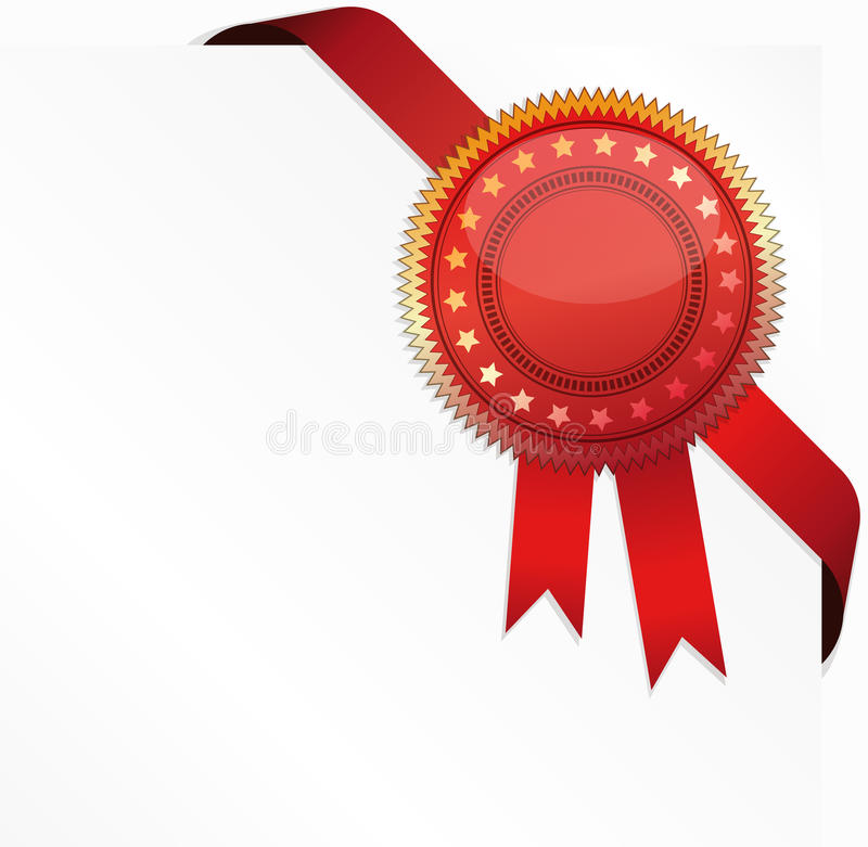 Certificat faisant le coin de bande et de qualité illustration libre de droits