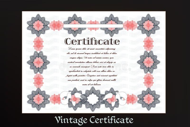 Certificat ou bon pour la création d'imprimés illustration de vecteur