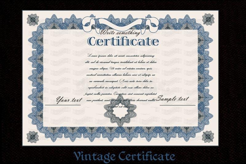 Certificat ou bon pour la création d'imprimés illustration libre de droits