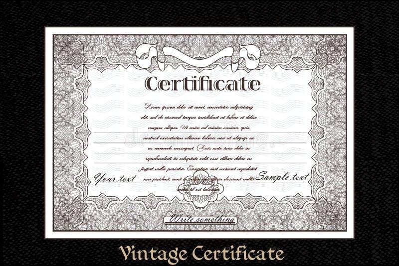 Certificat ou bon pour la création d'imprimés illustration stock