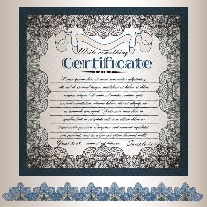 5) certificat ou conception de bon de cadeau dans le rétro style classique illustration de vecteur