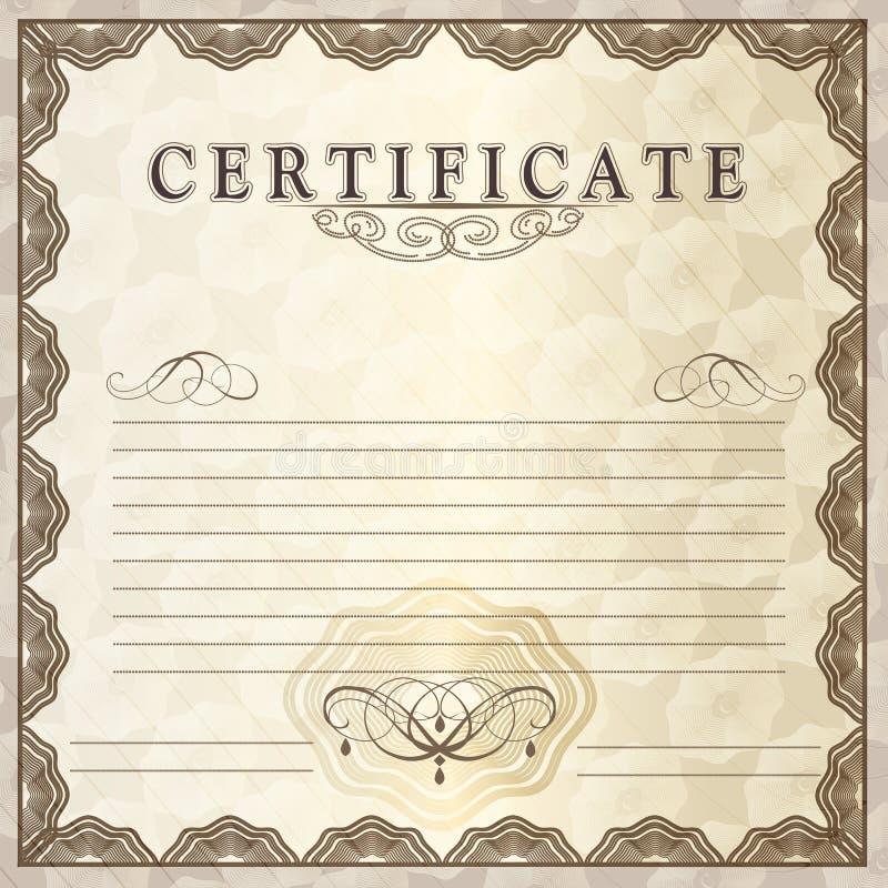Certificat-prime de vecteur pour la conception illustration stock