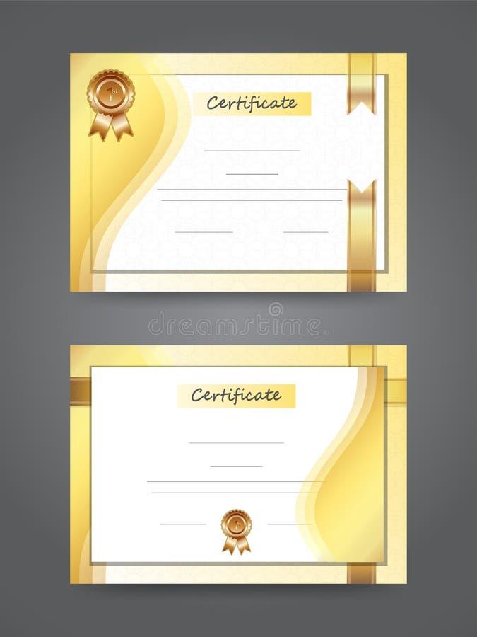 Certificat vide de la meilleure récompense de diplôme illustration stock