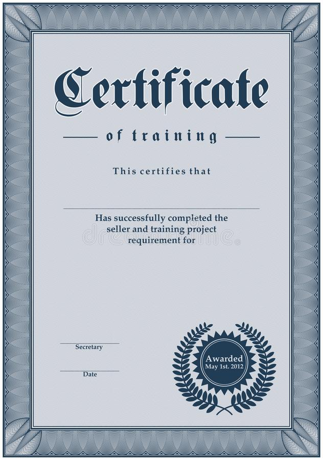 Certificate royalty free illustration