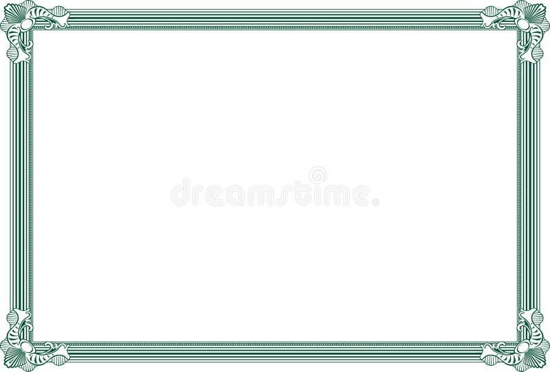 Certificate . stock illustration
