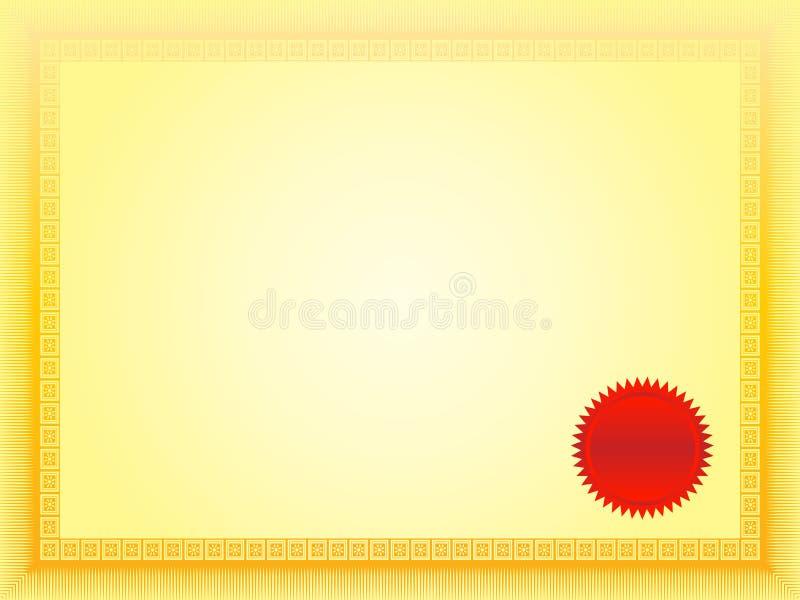 Download Certificate stock illustration. Image of illustration - 6246700