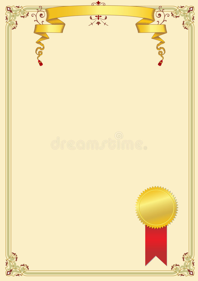 Download Certificate stock vector. Illustration of award, background - 8572987
