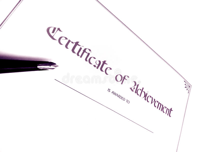 Download Certificate of achievement stock image. Image of documents - 13284245
