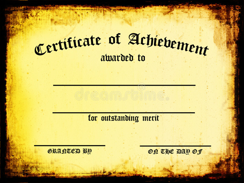 Download Certificate of Achievement stock illustration. Image of paper - 1555058