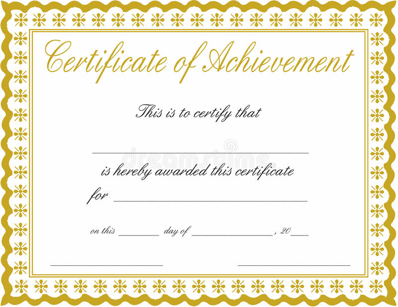 Certificate Of Achievement Stock Image Image Of Bronze