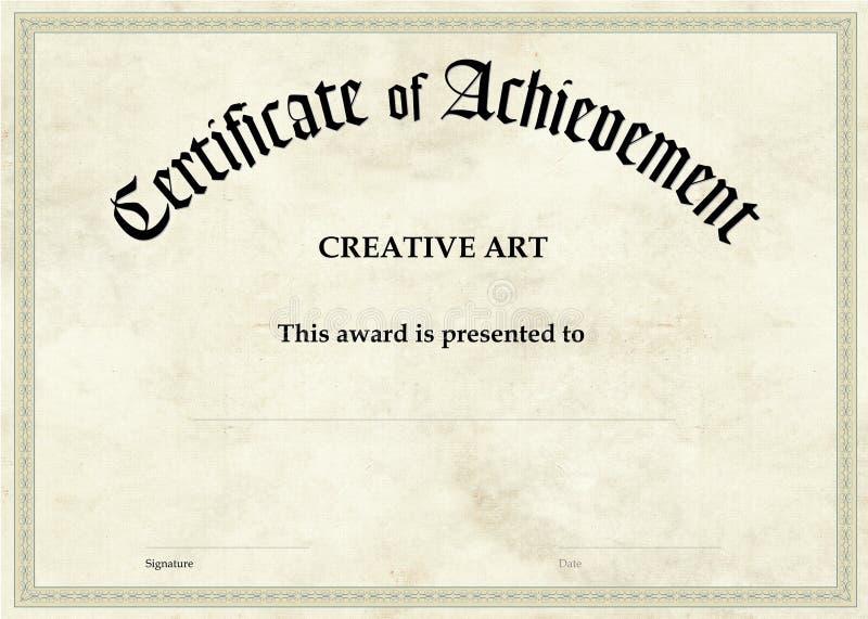 Certificate of Achievement - Creative Art stock photography