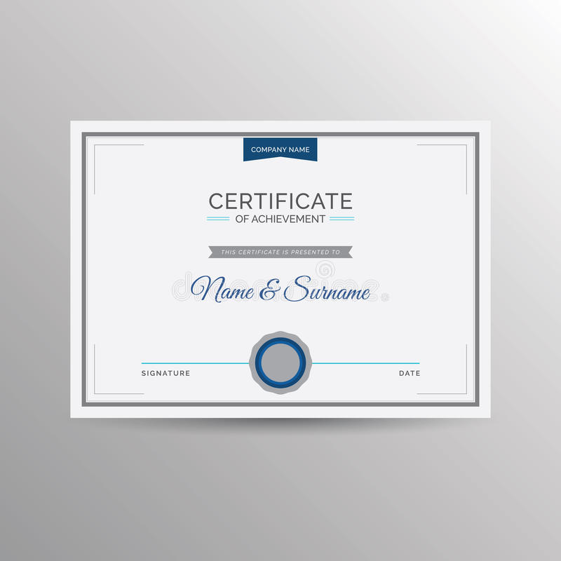 Download Certificate Of Achievement Template Stock Image - Image of achieve, official: 74645447