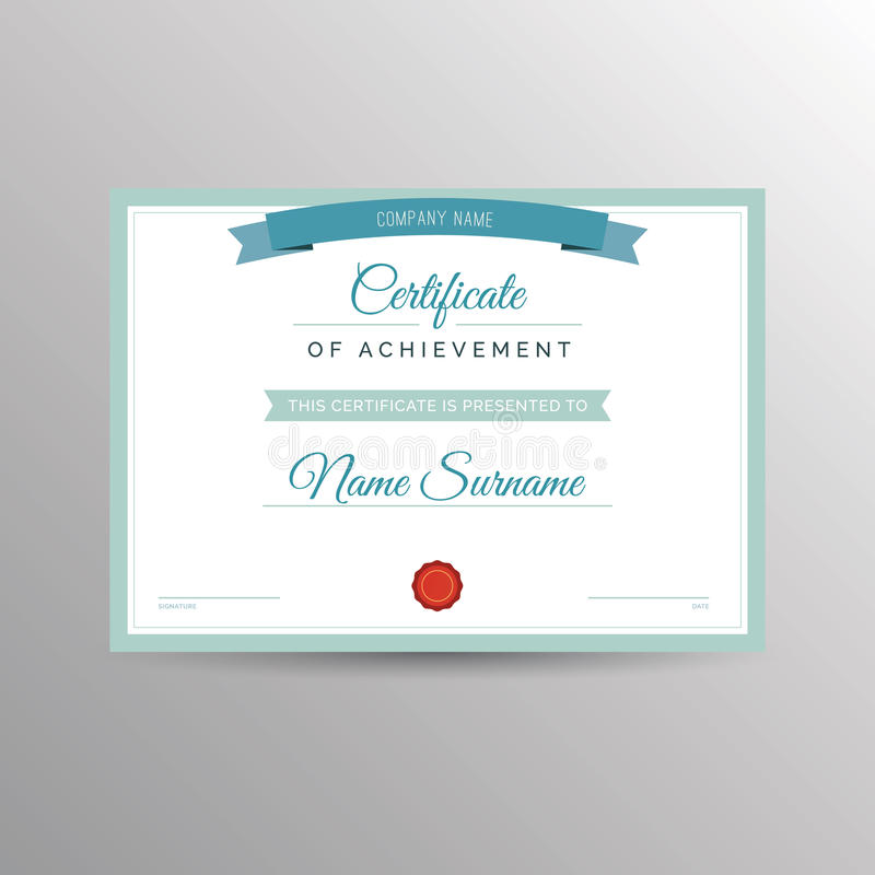 Download Certificate Of Achievement Template Stock Photo - Image of paper, education: 74836796