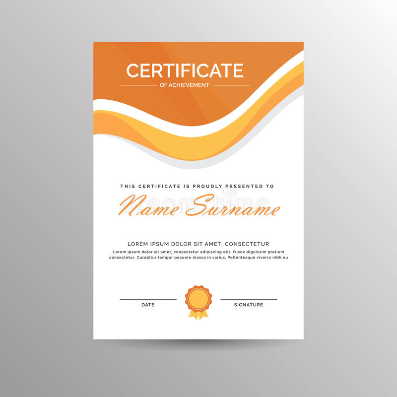Download Certificate Of Achievement Template Stock Photo - Image of completion, achieve: 76893884