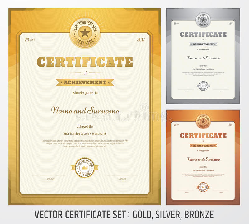 Certificate of achievement template in vector stock vector image download certificate of achievement template in vector stock vector image 69778646 yadclub Images