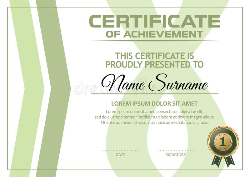 Certificate of Achievement Template vector illustration