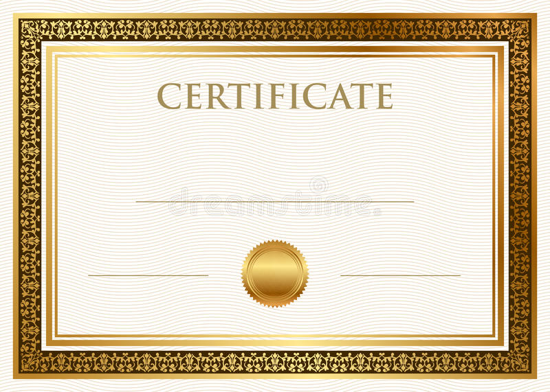 Certificate of achievement with wax seal vector illustration
