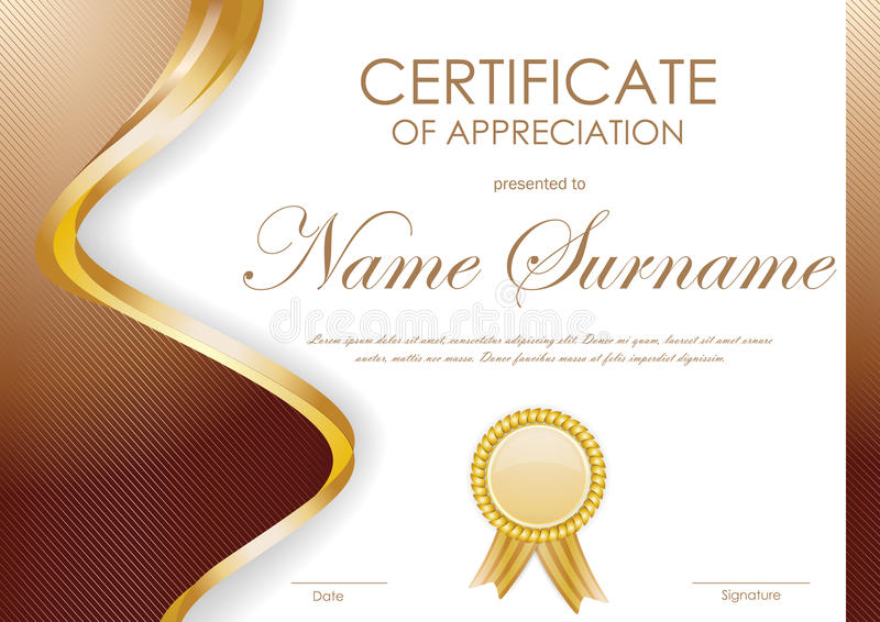 Certificate of appreciation template stock vector illustration certificate of appreciation template yadclub Image collections