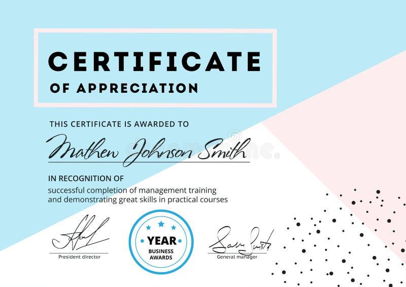 Certificate of appreciation template design elegant business di download certificate of appreciation template design elegant business di stock vector illustration of certificate yelopaper Gallery