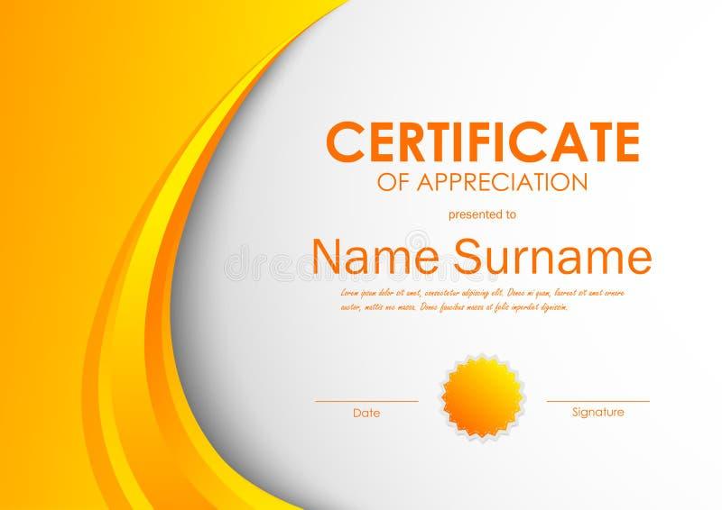 Certificate Of Appreciation Template Stock Vector - Image: 86222964