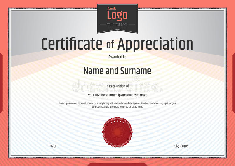 Certificate of appreciation template stock vector image 69255132 download certificate of appreciation template stock vector image 69255132 yelopaper Image collections