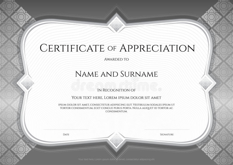 Certificate of appreciation template in vector with applied thai download certificate of appreciation template in vector with applied thai stock vector illustration of honor yelopaper Images