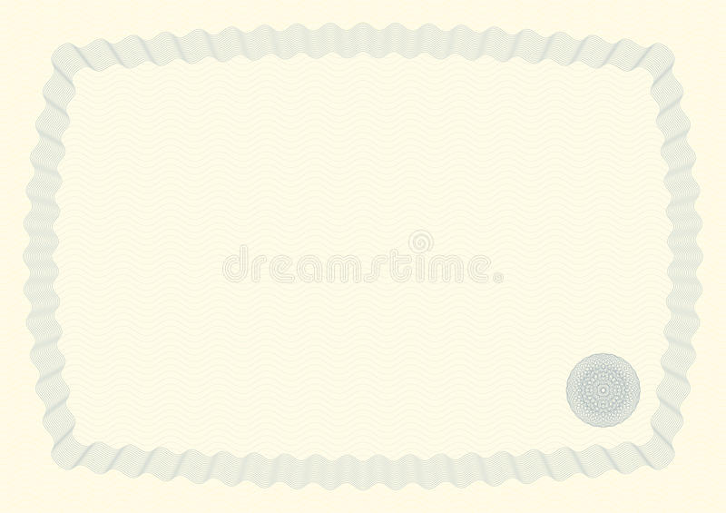 Certificate Background III. Guilloche Background for Certificate, Voucher, Diploma (stroke widths are editable stock illustration