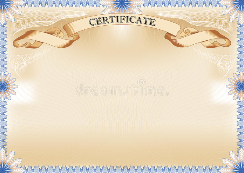 Certificate stock vector. Illustration of achievement ...