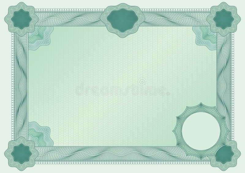 Certificate blank stock illustration
