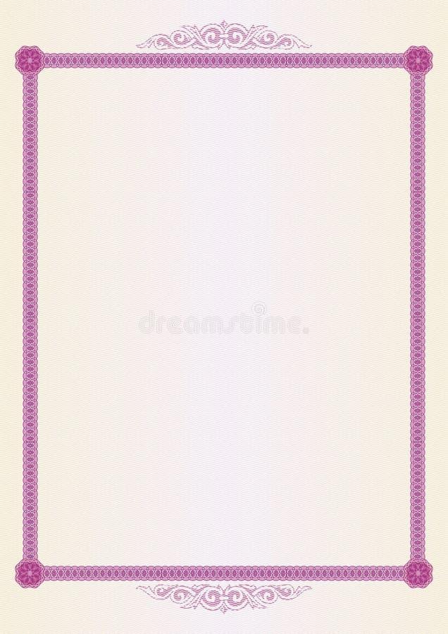 Certificate blank stock illustration. Illustration of curl - 3528199
