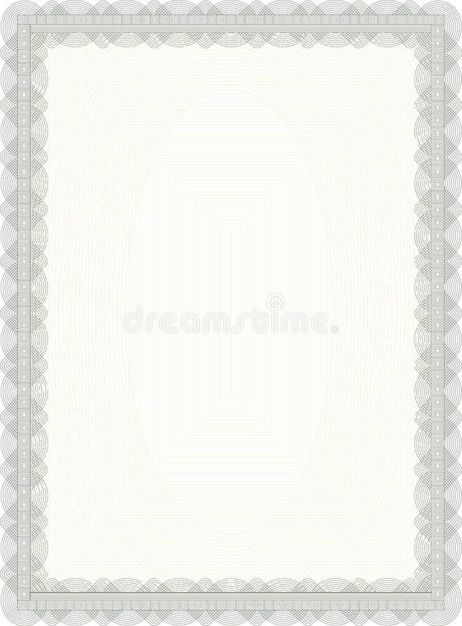 Certificate. Blank certificate with decorative border vector illustration