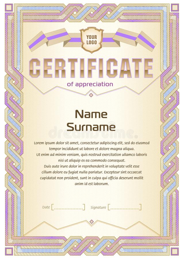 Certificate blank template stock vector illustration of embellish download certificate blank template stock vector illustration of embellish 101191346 yelopaper Images