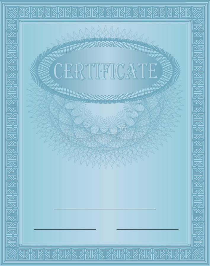 Download Certificate Blue Stock Photography - Image: 18327192