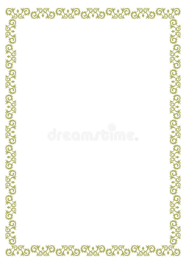 Certificate Border stock vector. Illustration of border ...