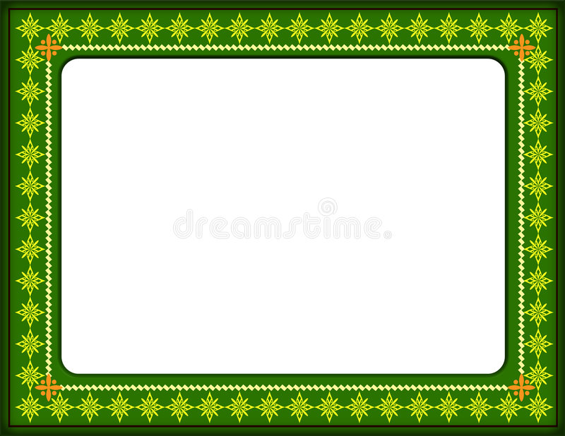Certificate border. The certificate green colour border generated by illustration on isolate background stock illustration