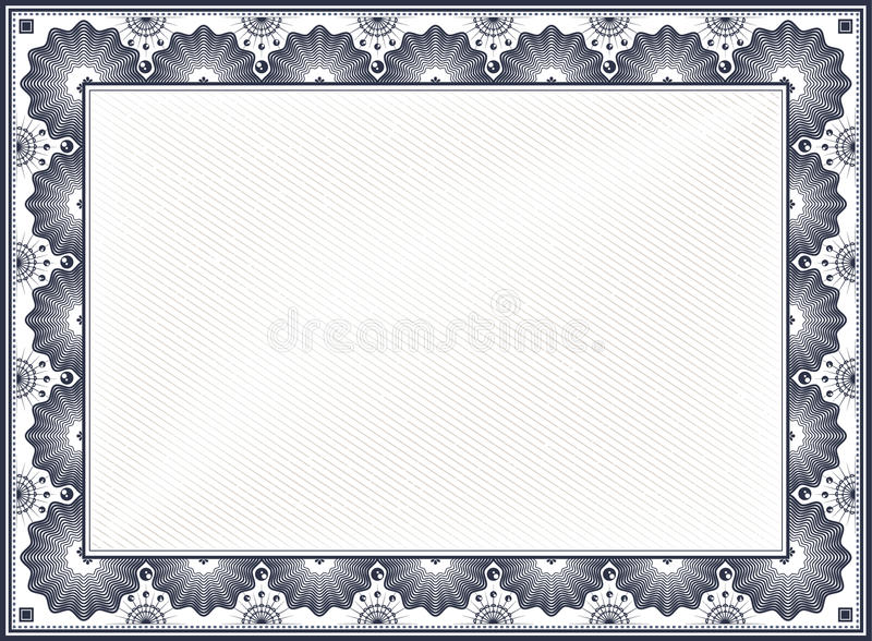 blank certificate templates without borders - certificate border stock vector illustration of