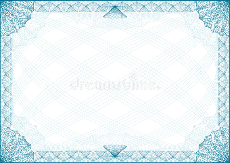 Certificate Border Letter. Classic border for diploma or certificate / A4