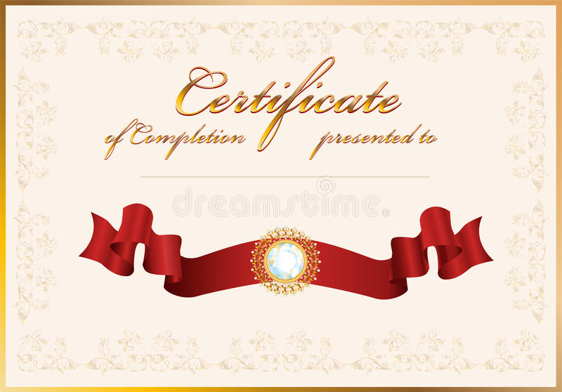 Certificate of completiontemplate stock vector illustration of download certificate of completiontemplate stock vector illustration of carat gemstone yadclub