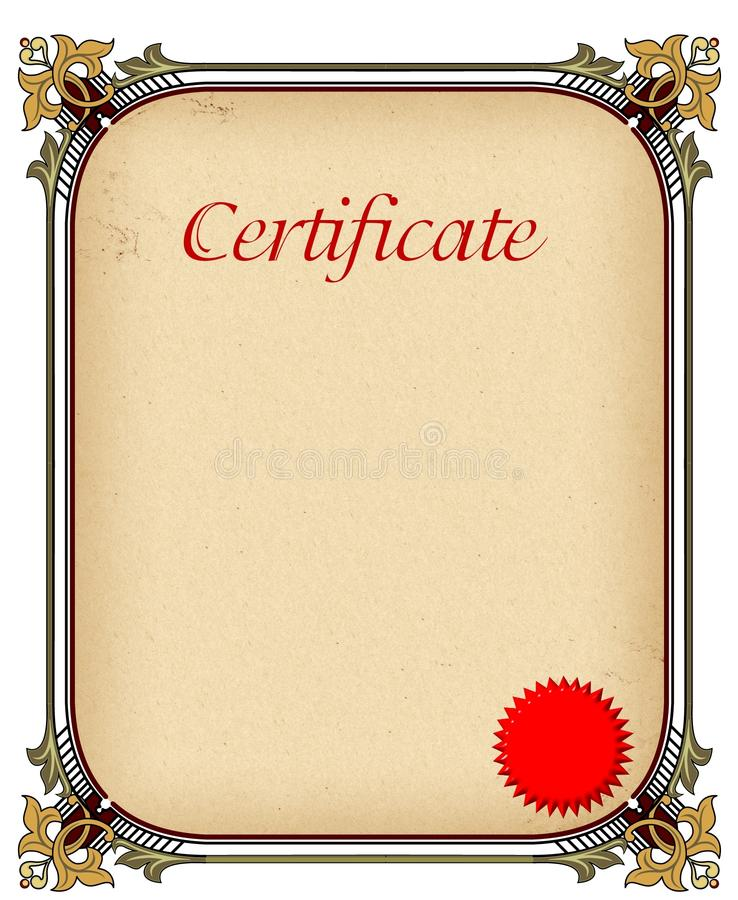 Certificate Of Completion Template Stock Illustration - Illustration ...