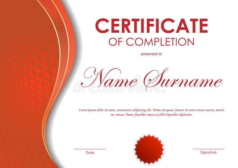 Certificate of completion template stock vector illustration download certificate of completion template stock vector illustration 81907974 yadclub Image collections
