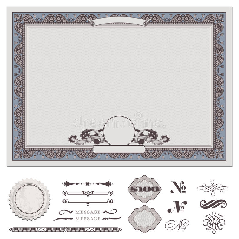 Download Certificate or coupon stock vector. Image of decoration - 19146791