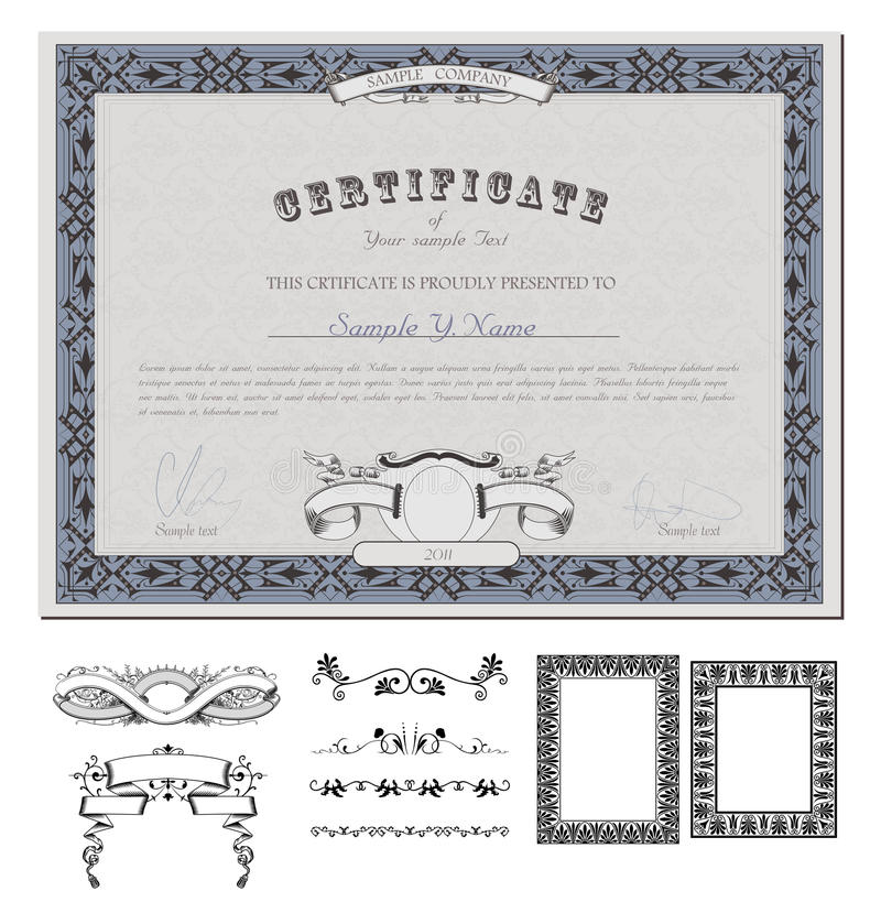 Certificate Or Coupon Template Royalty Free Stock Photos - Image