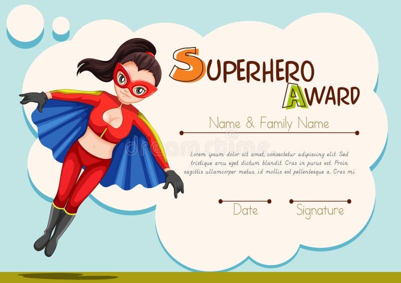 superhero award certificate  Certificate Design With Superhero Background Stock Illustration ...
