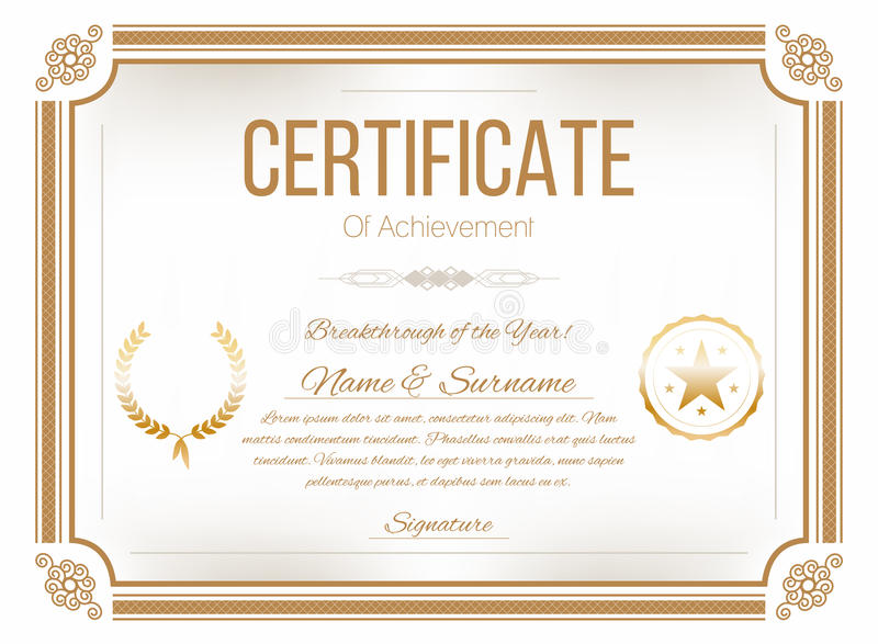 Certificate design template retro certificate diploma design download certificate design template retro certificate diploma design template stock vector illustration of yadclub Choice Image