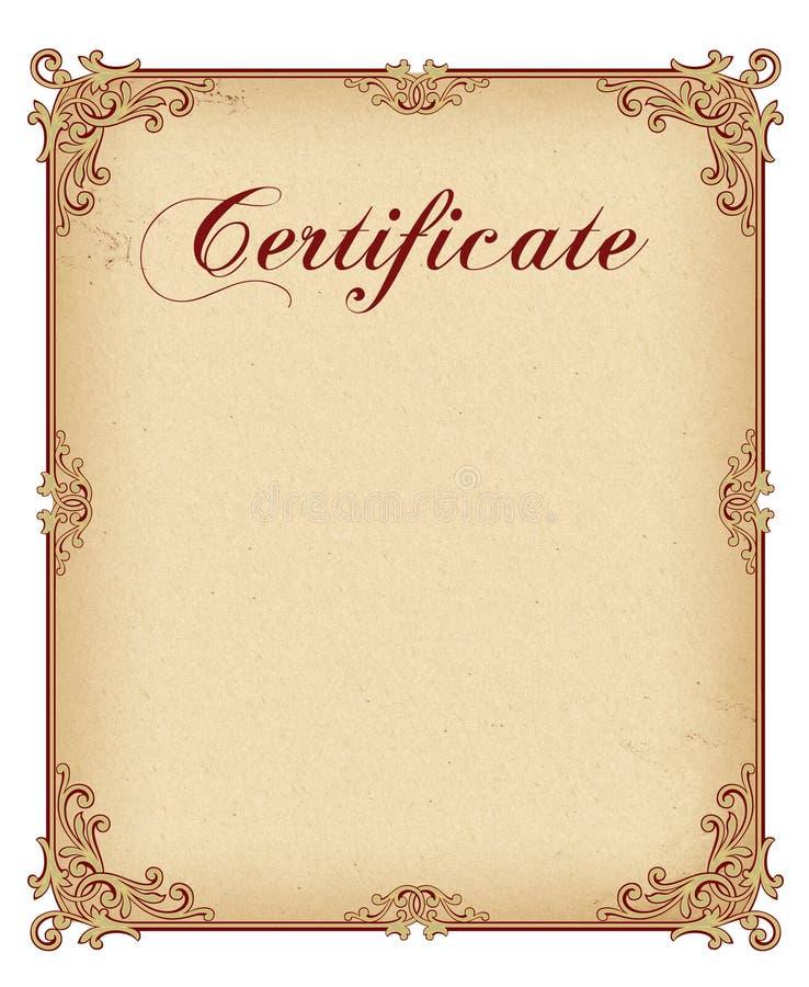 Certificate / Diploma award template stock illustration