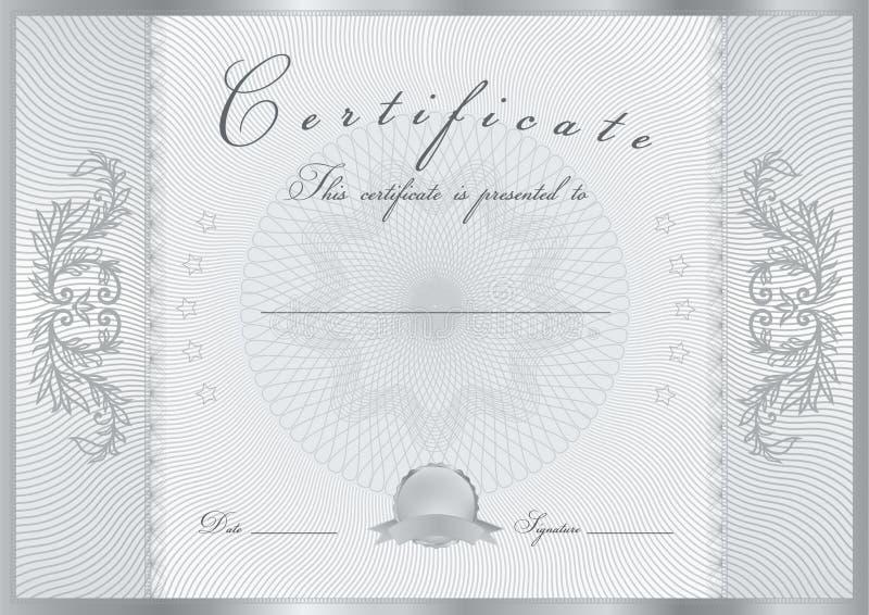 Certificate / Diploma award template. Pattern stock illustration