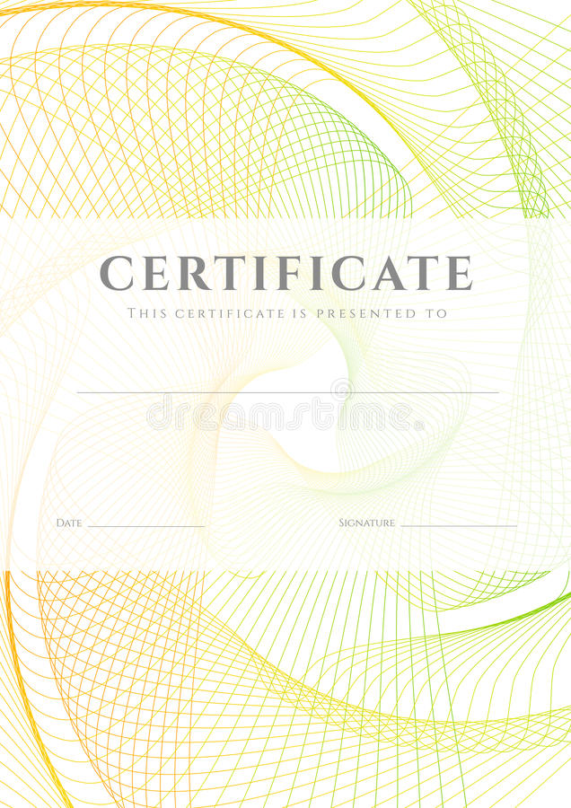 Certificate / Diploma background (template) stock images