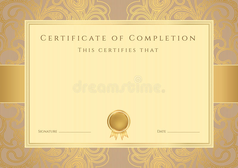 Certificate diploma award template pattern stock vector download certificate diploma award template pattern stock vector illustration of coupon course yadclub Gallery