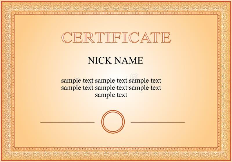 Certificate Diploma For Print Stock Illustration Illustration Of