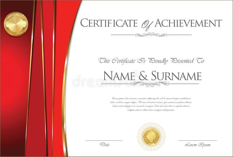 Certificate or diploma retro design vector illustration
